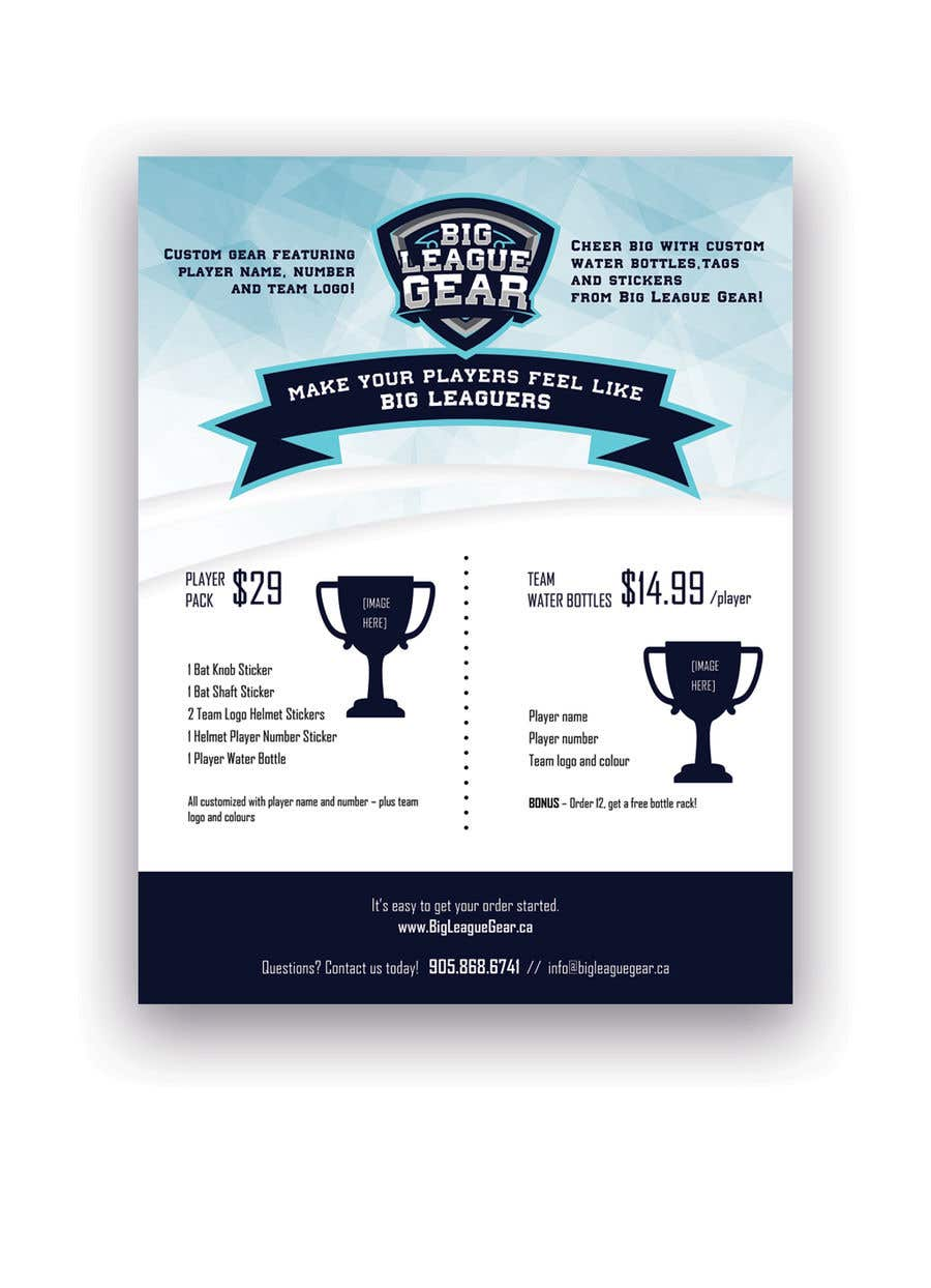 Konkurrenceindlæg #59 for Create a flyer for Big League Gear