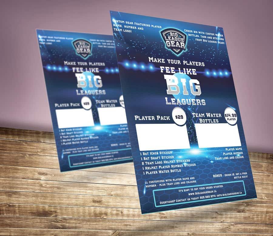 Konkurrenceindlæg #61 for Create a flyer for Big League Gear