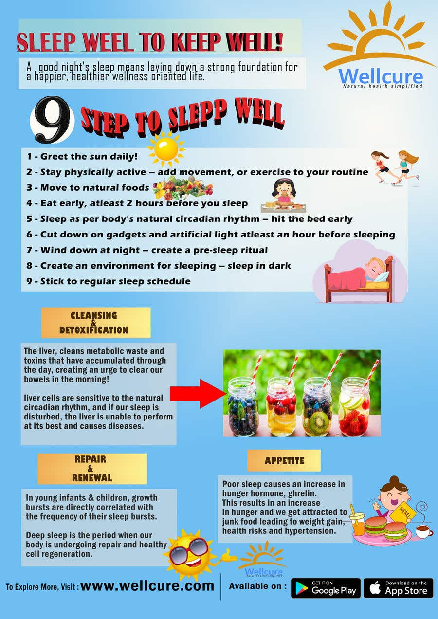 Entry #5 by nettiesyafiqah for Poster design for Wellcure - Sleep