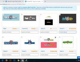 fatemajawhara98 tarafından Help Pick a logo. Everyone Gets Paid! Prize Divided -Pack Rats- Poll için no 88