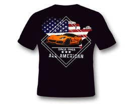 #23 for Corvette American Made Tee Shirt by Sangrapix