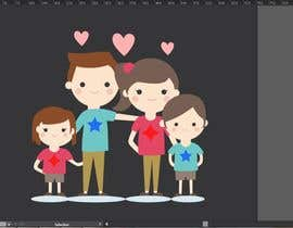 Ahsanhabibafsari tarafından NEED A VECTOR 'HAPPY FAMILY' DRAWING. no bids from indiapak için no 7