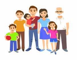 niloynill512 tarafından NEED A VECTOR 'HAPPY FAMILY' DRAWING. no bids from indiapak için no 4