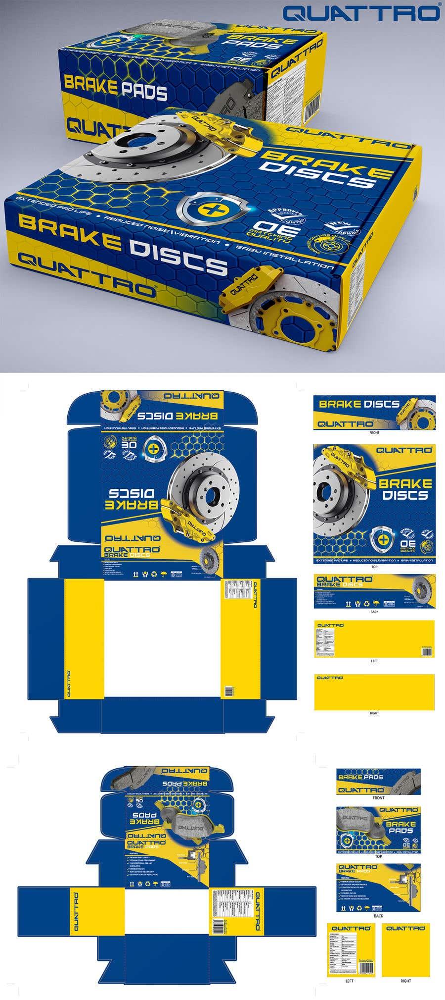 "Intrarea #22 pentru concursul ""Prepare packaging for Brake Pads and Brake Discs"""