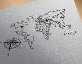 #3 untuk Tattoo design that incorporates outline of map. Will eventually want to turn into full sleeve. oleh sanchita1118