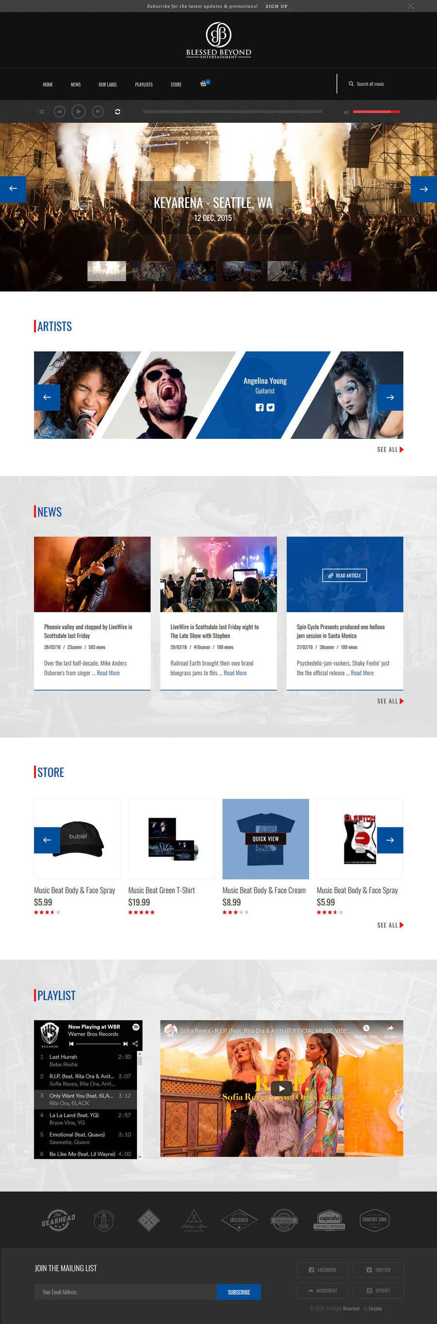 Contest Entry #113 for Design a homepage