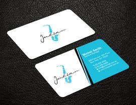 #108 for Design business cards for musician - Saxophone - Logo available by patitbiswas