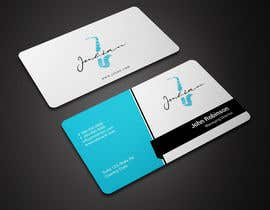 #90 for Design business cards for musician - Saxophone - Logo available by JPDesign24