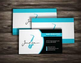 #63 for Design business cards for musician - Saxophone - Logo available by sohelrana210005