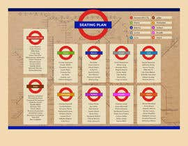 #18 untuk Design a vintage style London underground wedding seating plan poster oleh leandeganos