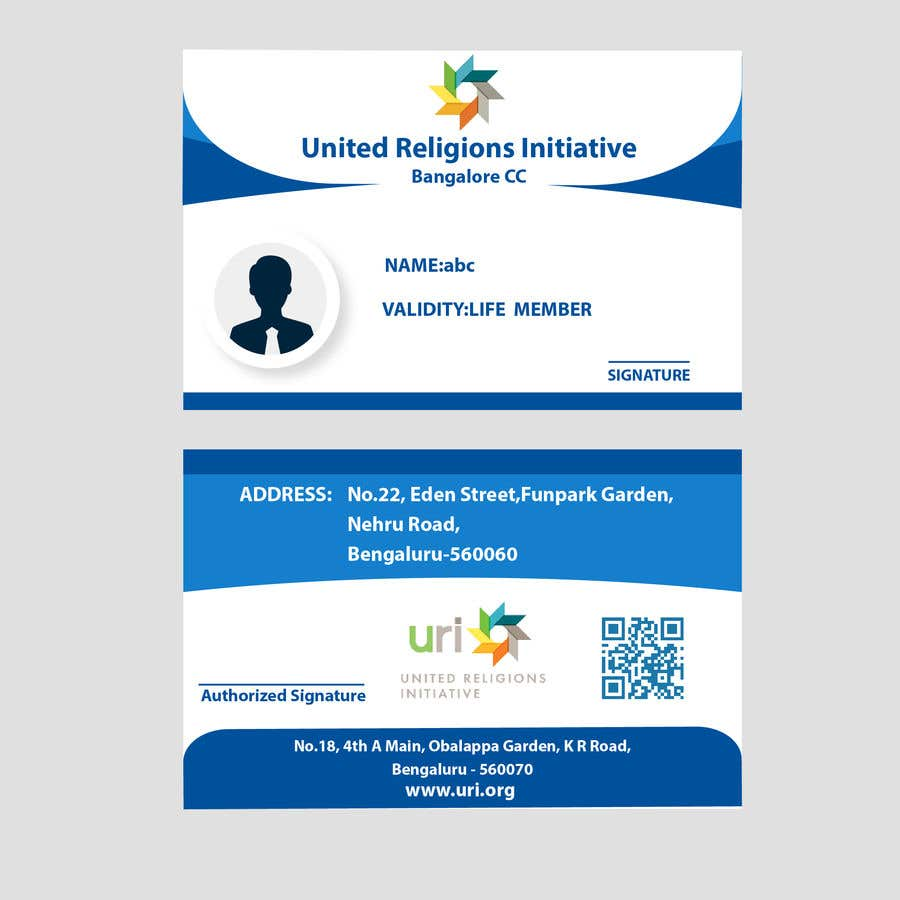 Entry #35 by MohankumarT27 for Design an ID card | Freelancer