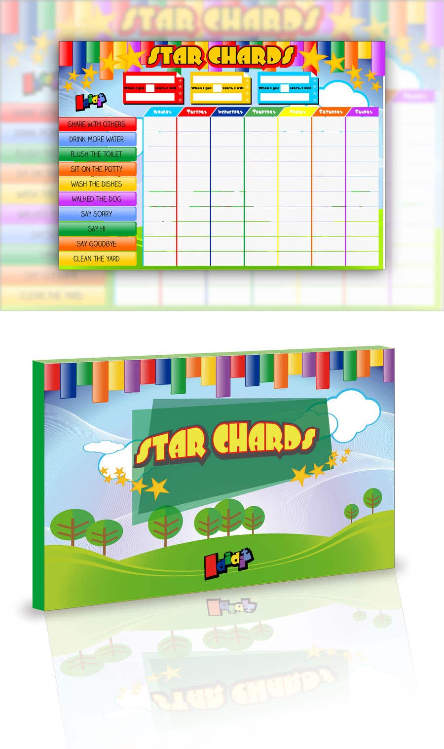 Contest Entry #20 for Design a kids reward chart in a3 size