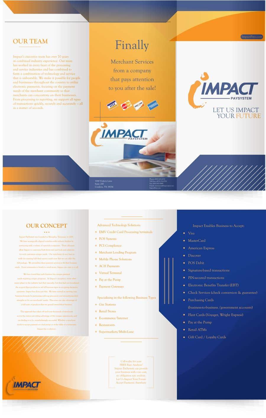 Kilpailutyö #5 kilpailussa Impact PaySystem Tri Fold Marketing Pamphlet
