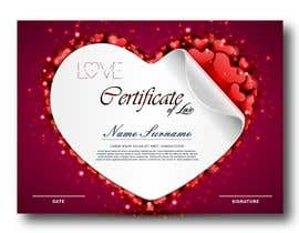 #18 for design a love certificate template with my logo af adesigngr
