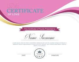 #12 for design a love certificate template with my logo af bhumishah312
