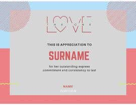 #4 for design a love certificate template with my logo af nurfatinshafiqah