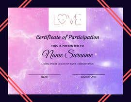#6 for design a love certificate template with my logo af aniskamarudin95