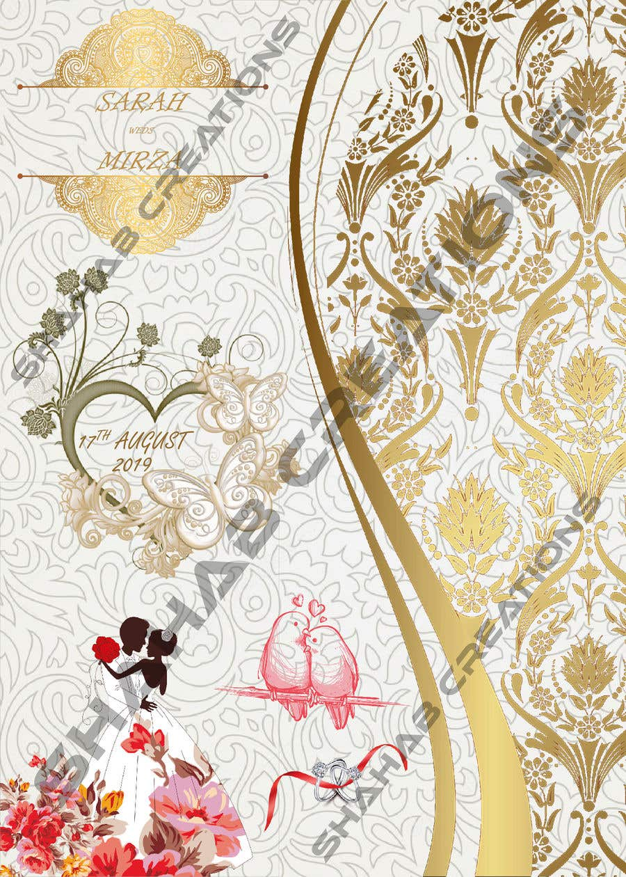 Kilpailutyö #123 kilpailussa design of wedding invitations