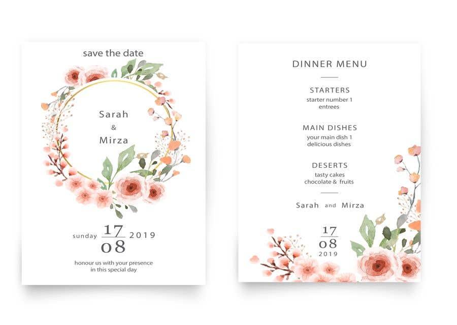 Kilpailutyö #26 kilpailussa design of wedding invitations