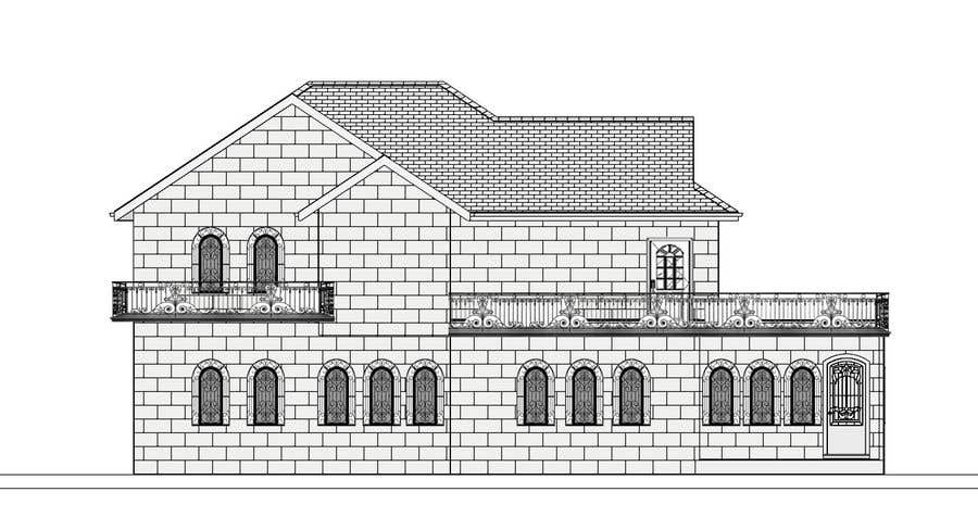 Contest Entry #16 for Draw colonial elevation for a floor plan