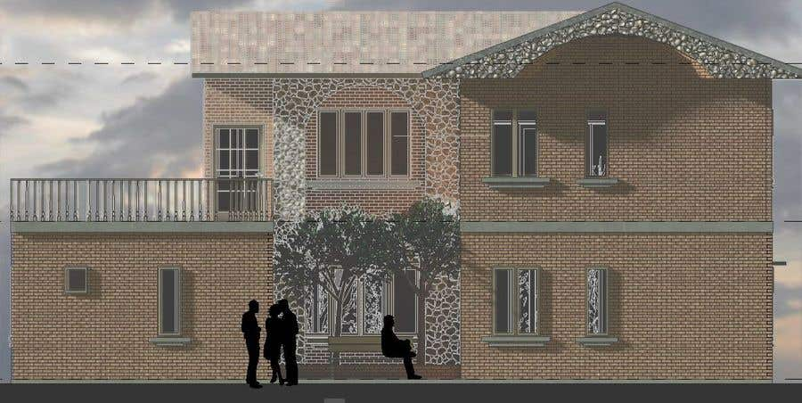 Contest Entry #23 for Draw colonial elevation for a floor plan
