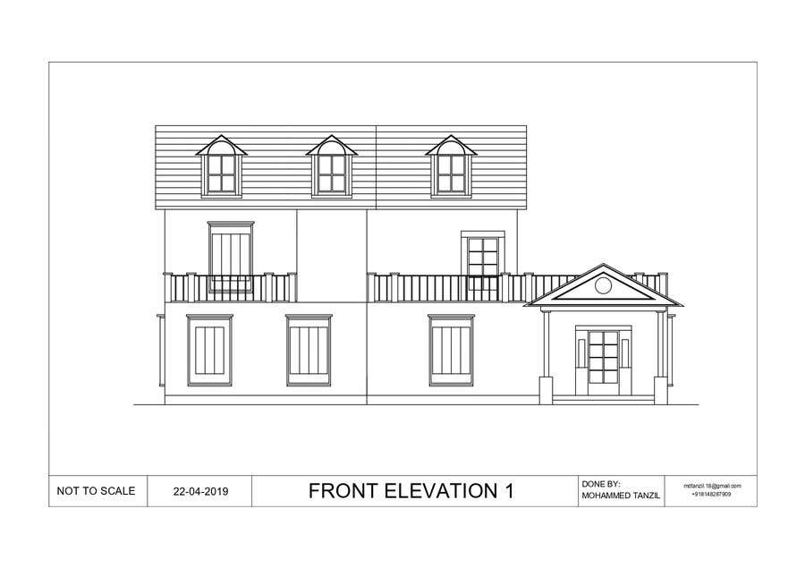 Contest Entry #11 for Draw colonial elevation for a floor plan