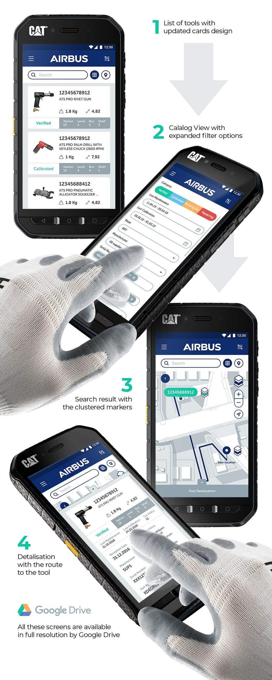Конкурсная заявка №263 для Mockup an aerospace app for Airbus!