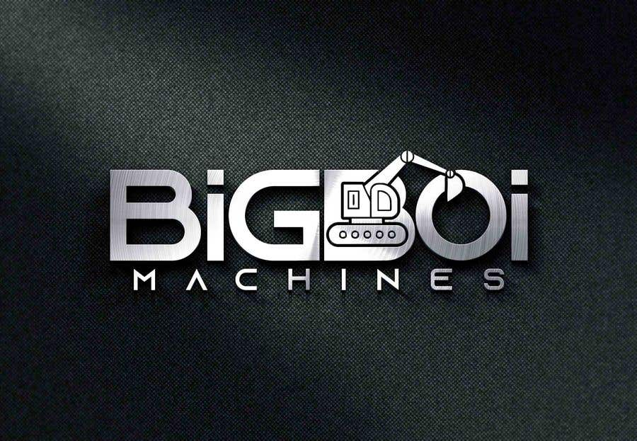 """Konkurrenceindlæg #76 for I have just started an excavation hire business and I need a logo designed for it. I'm looking for a new creative modern design rather than the standard 'run of the mill' logo.   The business name is """"Big Boi Machines""""."""