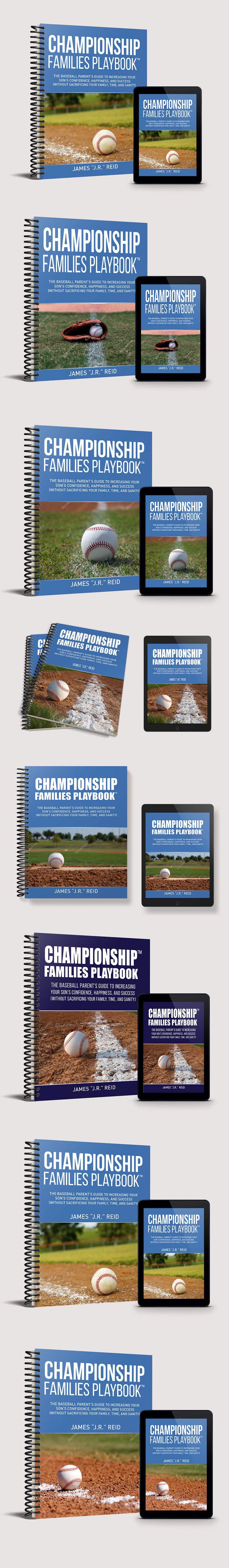 Penyertaan Peraduan #42 untuk Book mockup for the Championship Families Playbook™