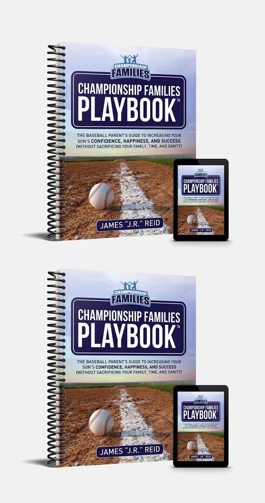 Kilpailutyö #57 kilpailussa Book mockup for the Championship Families Playbook™
