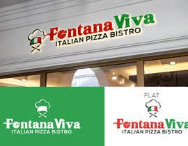 """#3 cho """"fontana viva italian pizza bistro"""" is restutant name, i want to make led gkoe sign board, for that you havr to design some illustration/design (fontana viva is name of my restutant) bởi GorillaGraphicx"""