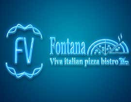"""#21 cho """"fontana viva italian pizza bistro"""" is restutant name, i want to make led gkoe sign board, for that you havr to design some illustration/design (fontana viva is name of my restutant) bởi hichamo0s"""