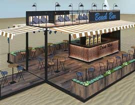 #27 para I need an approximate layout of a trailer converted into a bar. The trailer is 8m x 2.1m. Must have a bar for serving drinks and seating area. Designer can send the layout, front view, side view or possibly 3d model. por SSInteriorArch