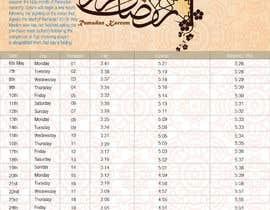 #6 untuk Ramadan calendar design oleh sho57af5c78a8284