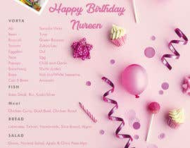 #6 untuk Make a Food Menue for Nureen Birthday oleh saifulisaif22