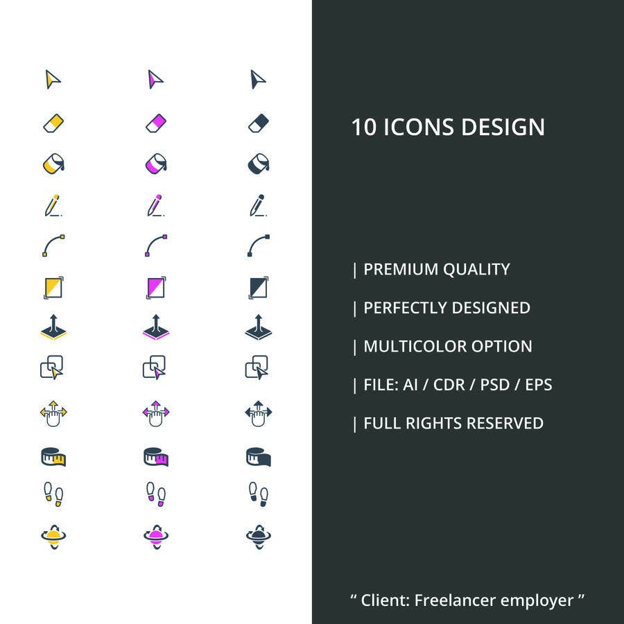 Contest Entry #10 for Create 10 icons with same concepts but different design