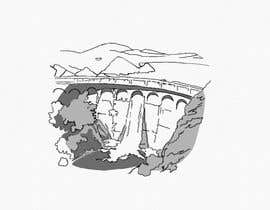 Nro 8 kilpailuun Minimalist Re-Creation of a Dam. Tattoo Drawing käyttäjältä NatalieNikkol