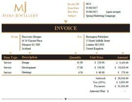 #43 for Create a Branded Excel Invoice for a Jewellery Company af zrliton