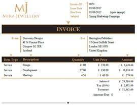 #43 para Create a Branded Excel Invoice for a Jewellery Company por zrliton