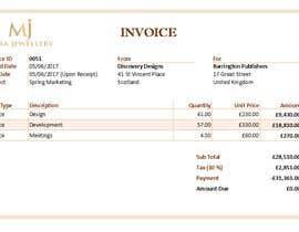 #24 para Create a Branded Excel Invoice for a Jewellery Company por sahanchatu