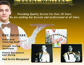 #33 cho Design Flyers for My Waiter/Bartender Hire Business bởi ranjithmalkantha