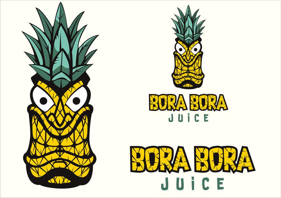 """Intrarea #23 pentru concursul """"Redraw this form of novelty in a beautiful and professional manner with the addition of (Bora Bora juice below the logo)"""""""
