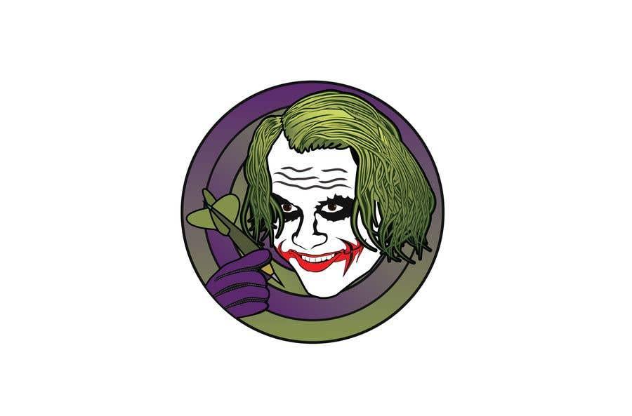 Proposition n°12 du concours Illustrate a Joker Logo with dartboard