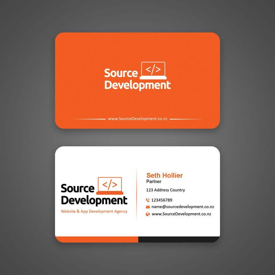 Inscrição nº 105 do Concurso para Re-Design a Business Card for a Website & App Development Company