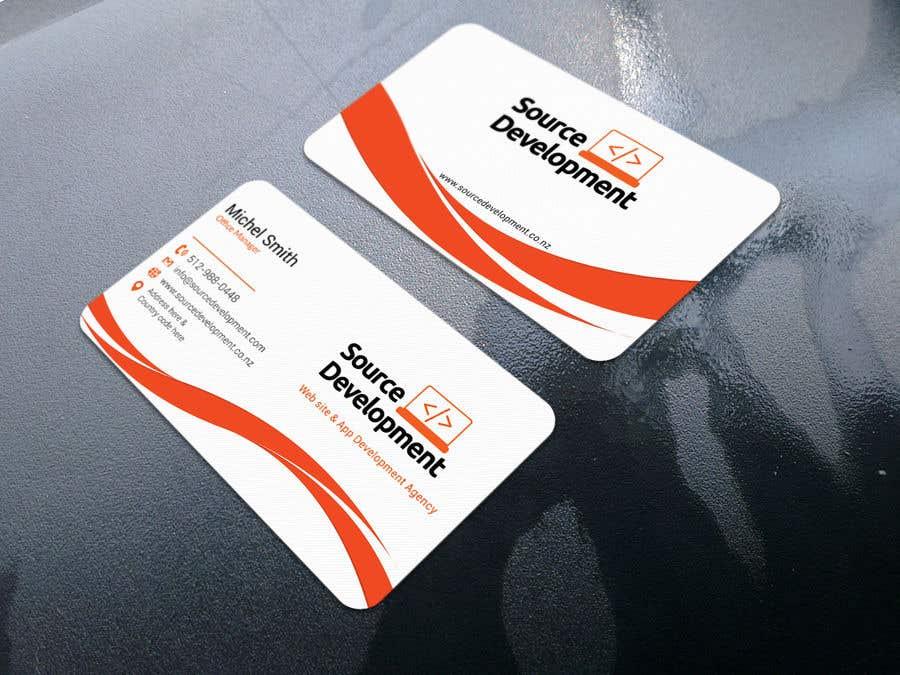 Kilpailutyö #363 kilpailussa Re-Design a Business Card for a Website & App Development Company