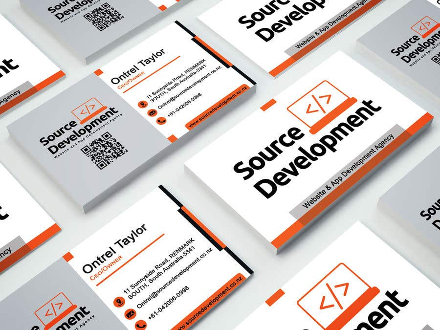 Inscrição nº 282 do Concurso para Re-Design a Business Card for a Website & App Development Company