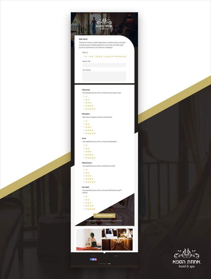 """Intrarea #8 pentru concursul """"Design a survey mailer for hotel"""""""