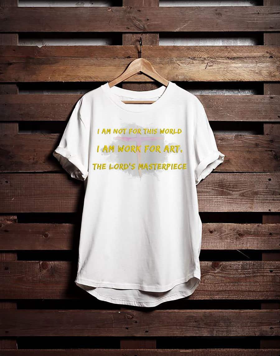 Penyertaan Peraduan #33 untuk create an awesome t shirt design for my merch