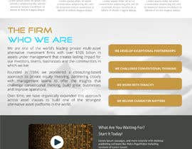 #7 para Sleek and Eye-Catching Landing Page for Hedge Fund por vishnuprasadsg