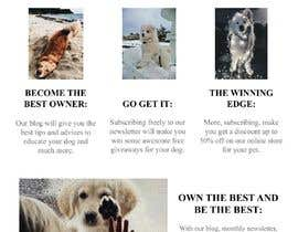 #7 for Landing page text (Collecting emails for dogs blog newsletter) by jadeguedj